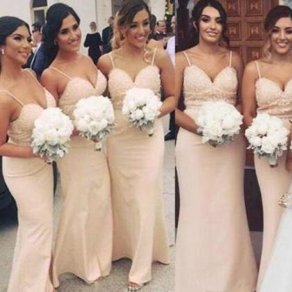 Pale Pink 2018 Bridesmaid Dresses F..
