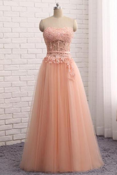 Evening Dress 2018 Sweetheart Tulle Coral Party Gown Floor Length Vestido De Festa Longo Imported Party Dress