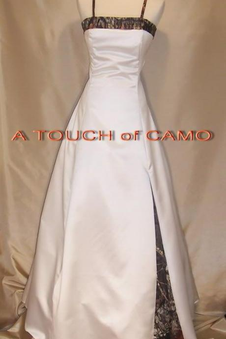 Camo Wedding Dresses Lace-up Vestido De Noiva Custom Made Bridal Gown Wedding Dress