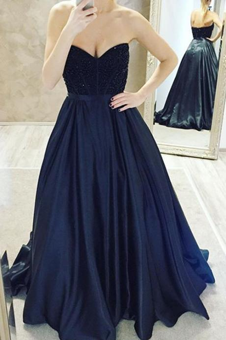 Elegant Ball Gown Sweetheart Floor Length Backless Pleated Prom Dress