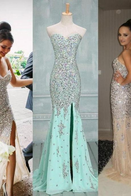 Long prom Dress,Charming Prom Dress,Mermaid prom dress,Sweetheart prom dresses,evening dress